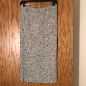 Marled soft gray pencil skirt